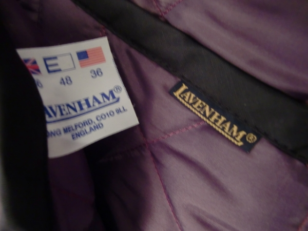 送料無料 イングランド 英国 ブランド ラベンハム LAVENHAM リバーシブル キルティング コート ブルゾン ジャケット イギリス_画像3