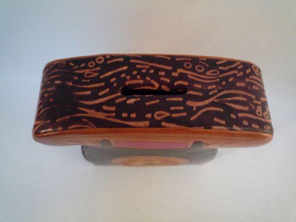 インド 革製 貯金箱 電話 アジア 手作り 一品もの 置物_画像2