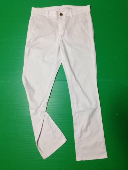 【お買得!】 ◆ UNIQLO / ユニクロ ◆ パンツ 9 白 ストレート