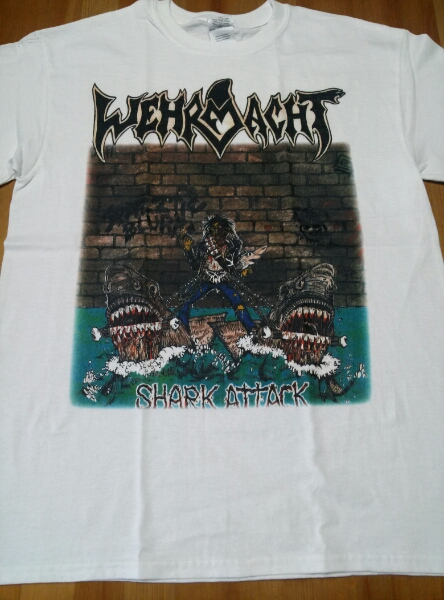 Wehrmacht Tシャツ 白M / anthrax s.o.d d.r.i napalm death