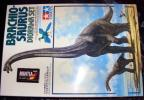 TAMIYA 1/35 ブラキオサウルス 情景セット 人間 始祖鳥 ベース付