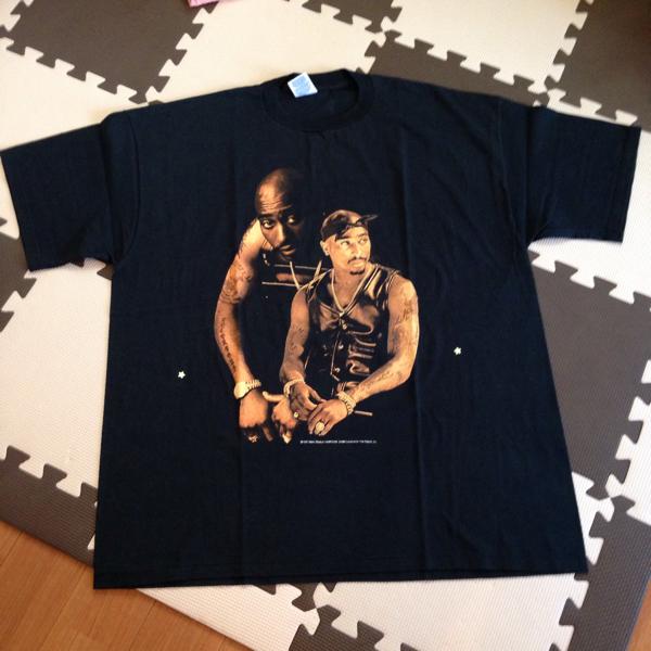90S DEADSTOCK 2PAC ビンテージ Tシャツ /RAPTEE カニエウェスト