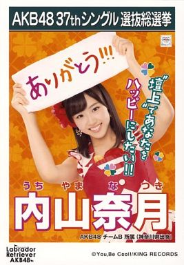 ◇内山奈月☆ラブラドール・レトリバー☆劇場盤生写真☆AKB48_画像1