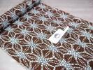 日式浴袍 - お得価格 メンズ竺仙浴衣「細川クレヤー細川 茶に渋水色麻の葉」