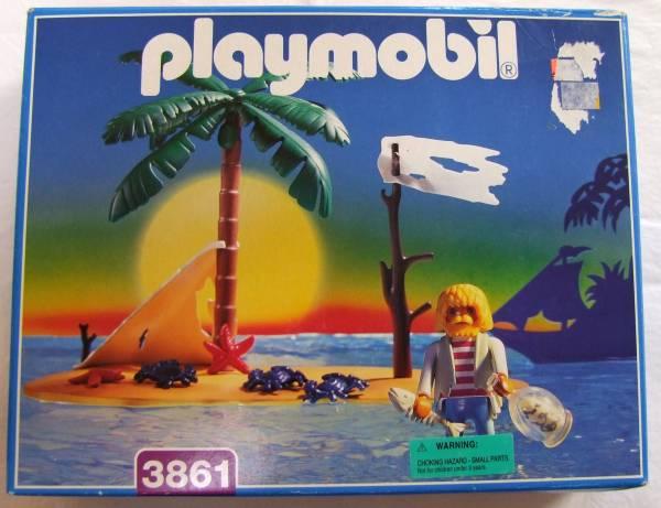 プレイモービル playmobil 3861 無人島 漂流者 未開封 激レア_画像1