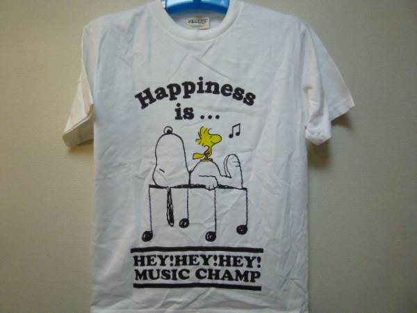 HEY!HEY!HEY!MUSIC CHAMPxスヌーピーTシャツ(ダウンタウン浜田雅功松本人志フジテレビ)
