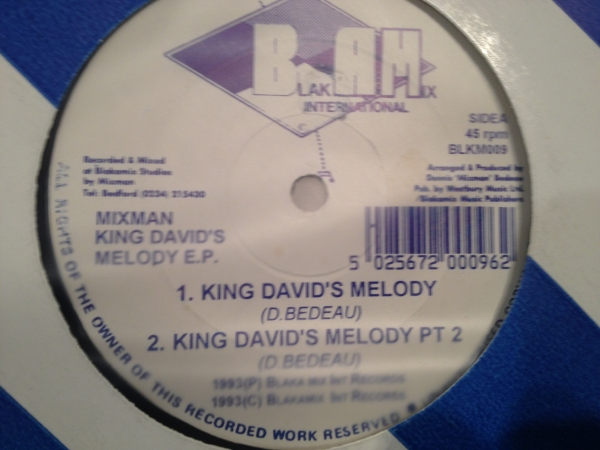 ■Mixman/King Davids Melody■KILLER UK DIGI DUB!_画像1