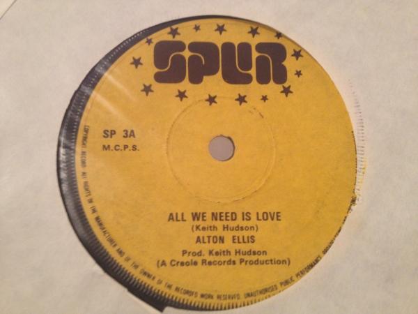 ★Alton Ellis/All We Need Is Love★哀愁名曲!_画像1