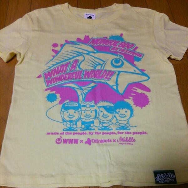 美品 100枚限定 MONGOL800 WWW09 トリプルネームTシャツ G-M ライブグッズの画像