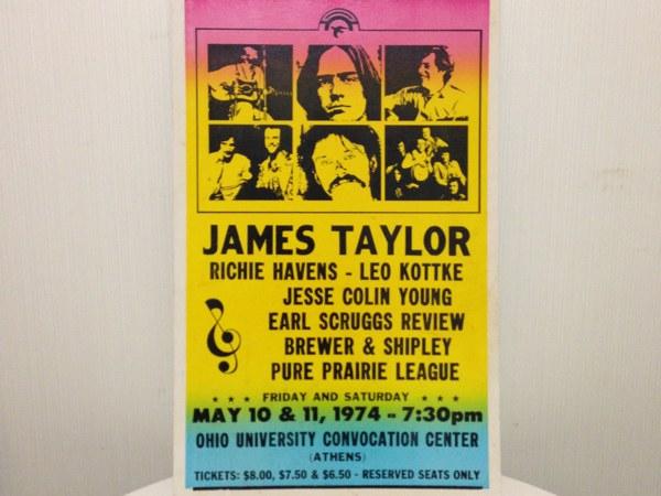 ビンテージ 1974年ジェームステイラー ライブ ポスター