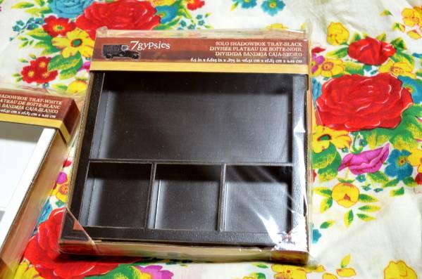 ■7gypsies 黒 シャドウボックス ディスプレイ 写真 壁掛け スクラップブッキング 思い出 DIY インテリア アルバム_画像1