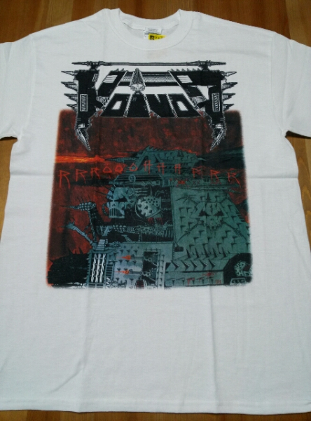 VOIVOD Tシャツ Rrroooaaarrr 白M / slayer megadeth s.o.d