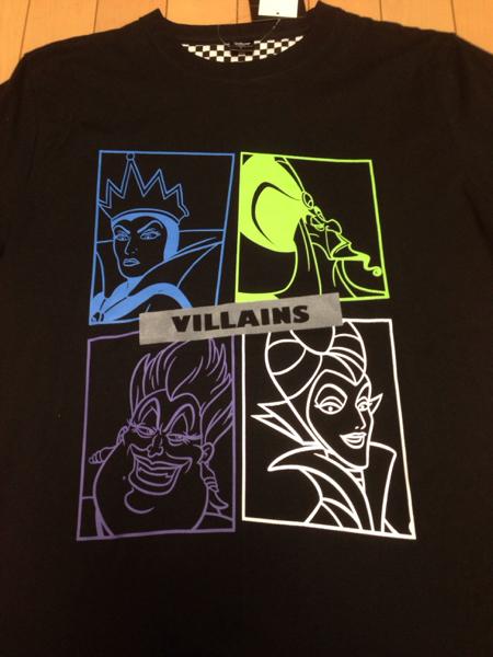 新品 ディズニー ヴィランズ シャツ L villains マレフィセント ディズニーグッズの画像