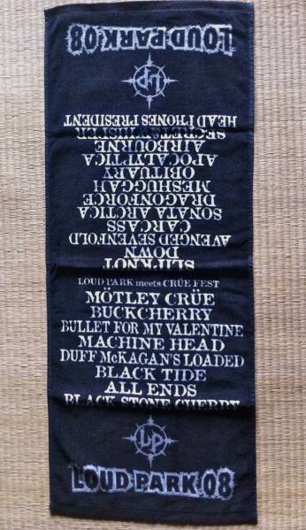 Loud Park 2008 ラウドパーク 記念タオル 送料無料 Slipknot