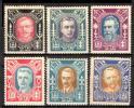 『リトアニア:未使用 1922年 著名人 6種』