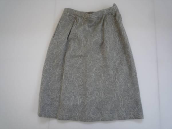【お得!!】◆台形スカート◆ グレー 総柄 膝丈