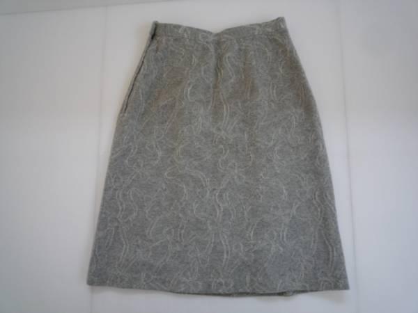 【お得!!】◆台形スカート◆ グレー 総柄 膝丈_画像2