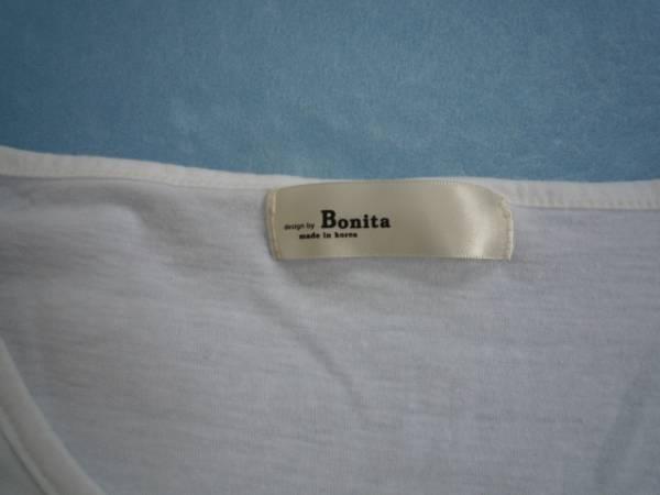 【お得!】 ◆ボニータ/Bonita◆ デザインポケットTシャツ 半袖 白_画像3