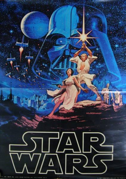 送料無料!スター・ウォーズ1978年公開時ポスター_センターに折れあります。