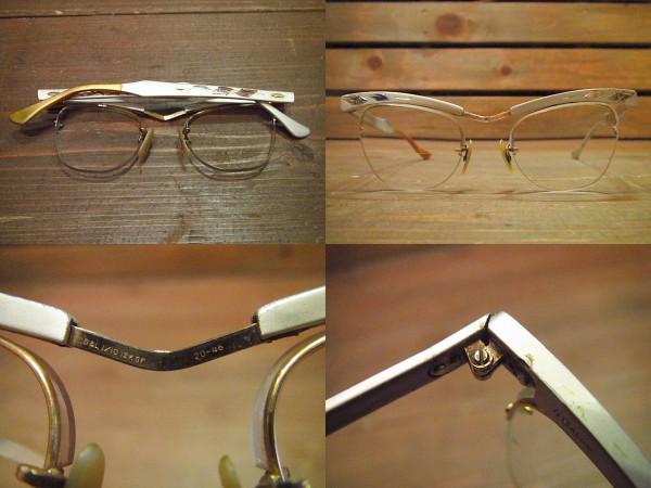 ビンテージ50's60's★B&Lアルミリムレスブロー眼鏡★ボシュロム_画像2