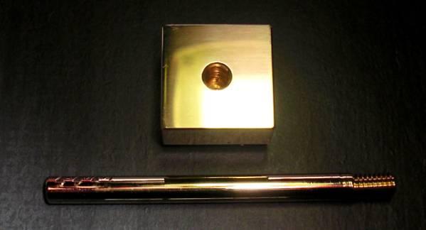 焼印・刻印 真鍮製15mm角 家紋 11 丸に木瓜_画像2