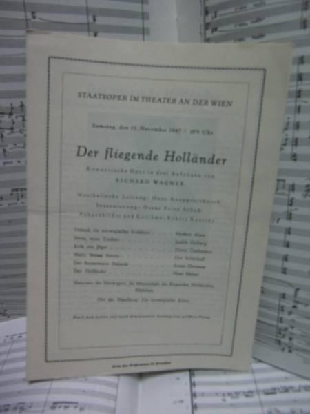 [演奏会プログラム] クナッパーツブッシュ 指揮オランダ人