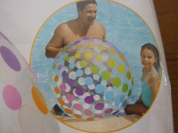 即決☆新品未使用☆レア! 超巨大!107cm 水玉 ドット 大きいビーチボール 超巨大ビーチボール_画像2