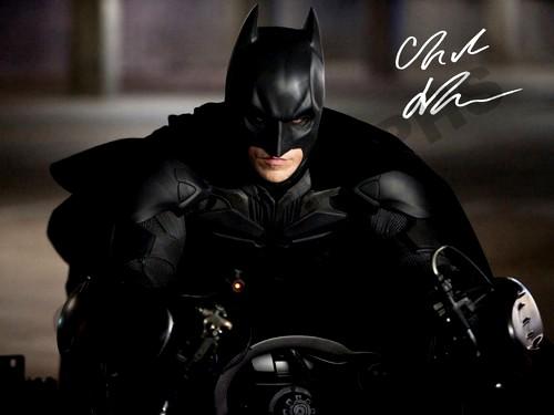 バットマンBatmanクリスチャン・ベールサインフォト写真ポスター