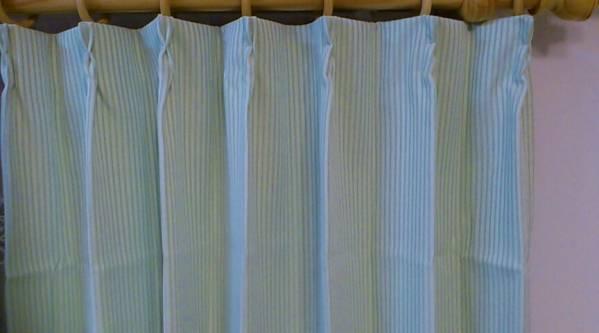 遮光裏地付2重カーテン巾100cm×丈240cm~280(2枚入) グリーン_画像1