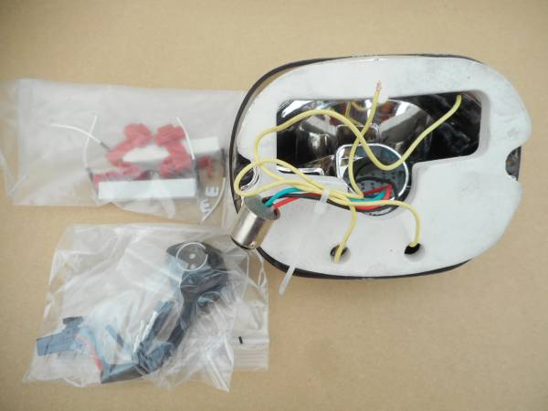 3062) ハーレー 中華製 ・ LEDスモークテールランプ 中古パーツ_画像3