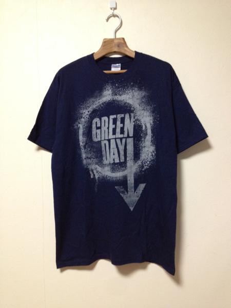 [即決古着]GREEN DAY/グリーンデイ/バンドTシャツ/半袖/ロゴ/紺色/ネイビー/L