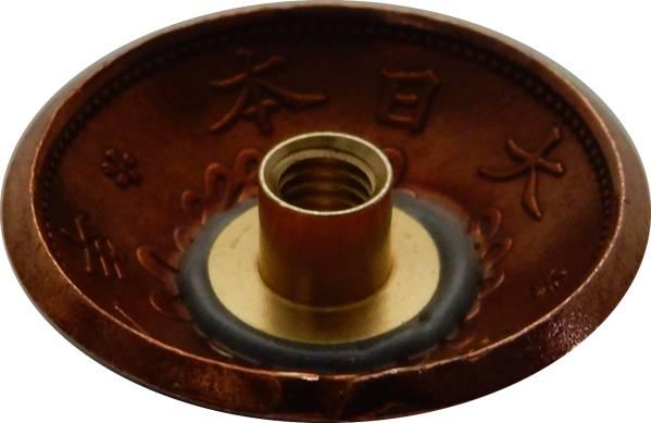 コンチョ 古銭 桐1銭青銅貨b ネジ式_画像2