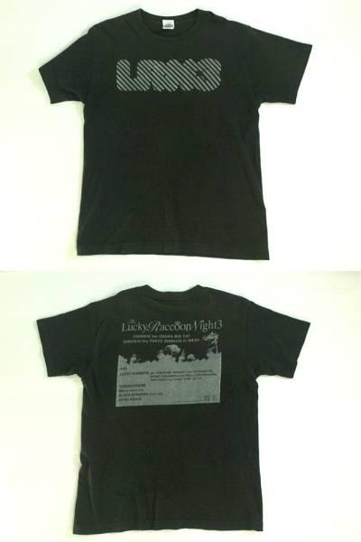 ★Lucky Raccoon Night3★プリント半袖Tシャツ 黒KANトライケラ