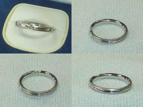 フラージャコーPT950ダイヤ入り指輪FURRER-JACOTシンプルリング_画像3