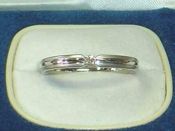 フラージャコーPT950ダイヤ入り指輪FURRER-JACOTシンプルリング_画像1