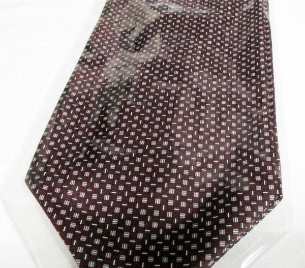 日本の巧み/国産シルク100%小紋柄アスコットタイワインh-2_画像2