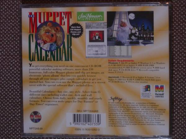 The Muppet Calendar (Jim Henson Interactive) PC CD-ROM_画像2