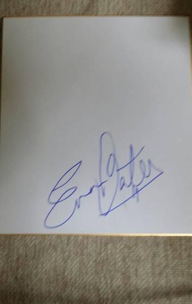 フィギュアスケートUSA代表エバンベイツ直筆サイン色紙