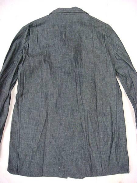 ビンテージ 希少 英国 イギリス UK 40S~50S 黒シャン ごま塩 ワーク ジャケット レア ブラック シャンブレー カバーオール デッドストック_画像3