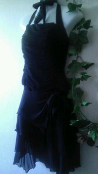 新品LEST ROSEレストローズリボンワンピ黒サイズMアシンメトリー_画像3