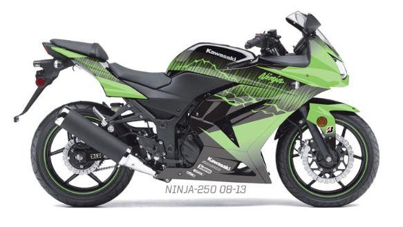 FACTORYEFFEX EV-X デカールキット カワサキ ニンジャ 250 Ninja グラフィックキット シール ステッカー バイク オートバイ _サンプル画像