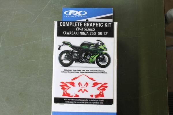 FACTORYEFFEX EV-X デカールキット カワサキ ニンジャ 250 Ninja グラフィックキット シール ステッカー バイク オートバイ _画像2
