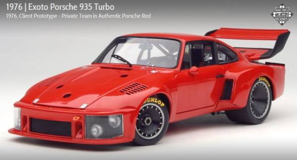 Super Rare Out Of Print Exoto 1 18 1976 Porsche 935 Turbo Client Prototype rot
