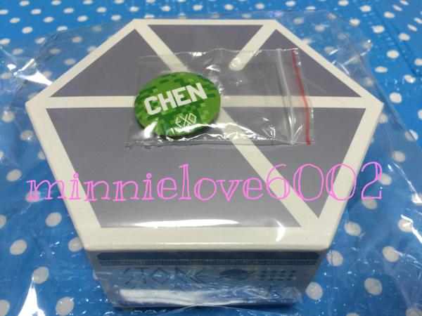EXO PLANET #2★公式 グッズ★ストーンチョコレート 缶バッジ★バッチ★バッジ★チェン ライブグッズの画像