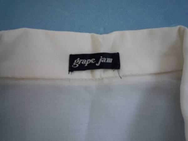 【お得!!】◆grape jam◆ 7分袖ジャケット 白 透け感 ショート丈_画像3