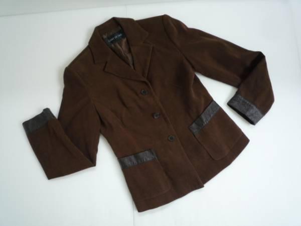 【良品!!】 ■ CHAT DE TAIL ■ 長袖ジャケット 茶色 異素材 7AR