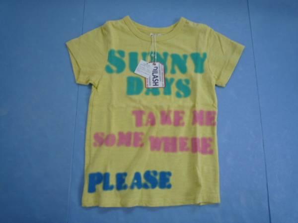 【新品・30%OFF!!】■DLASH■ 半袖Tシャツ 120 黄色 文字