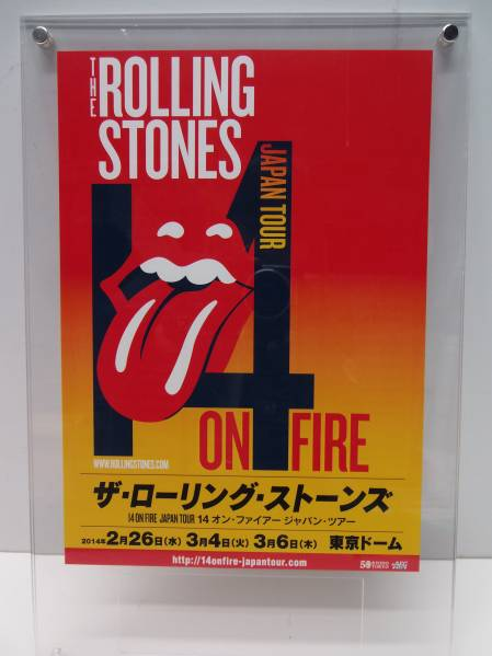 [チラシ] ザ・ローリング・ストーンズ 日本ツアー2014  美品