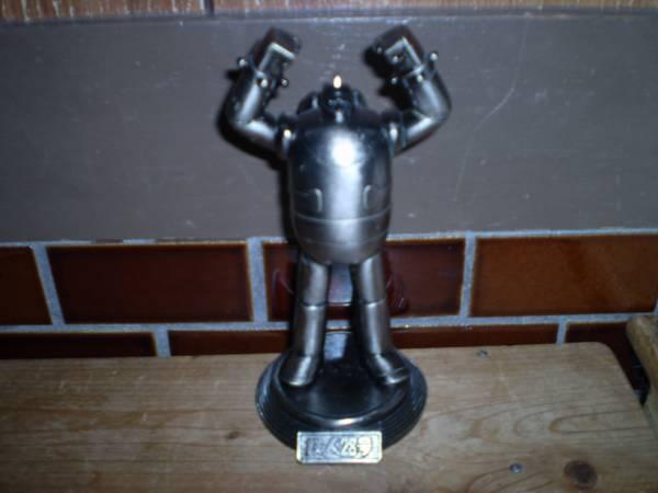 鉄人28号 ダイキャスト タカラ 1992 銀 高さ約14.5cm_画像1