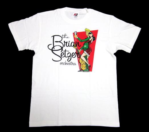 希少!!! ★ ブライアン セッツアー オーケストラ BSO 2009 JAPAN TOUR 会場 限定 Tシャツ ★ Stray Cats ストレイキャッツ ネオロカビリー